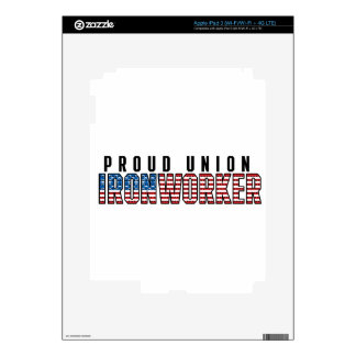 Union Ironworker Decals For iPad 3