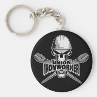 Union Ironworker: Skull and Spuds Keychain