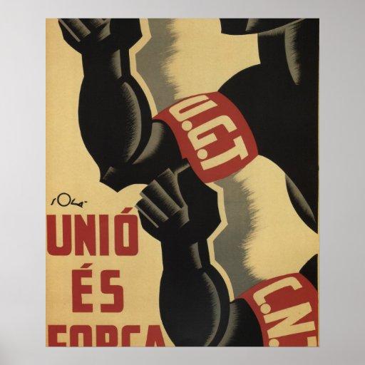 Union is strength (1936)_Propaganda Poster