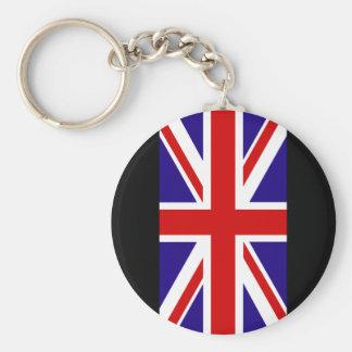 Union Jack 2 Basic Round Button Keychain