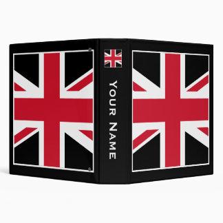 Union Jack 3 Ring Binder