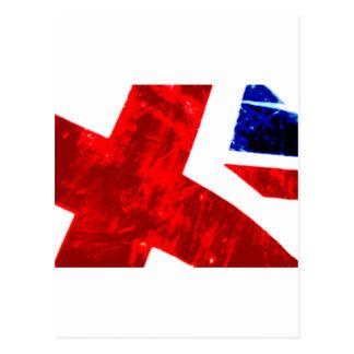 Union Jack Abstract Postcard