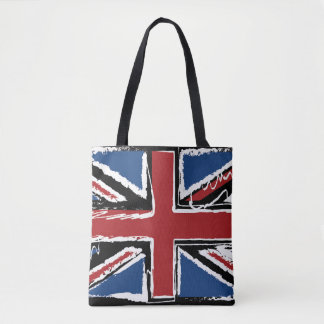 Union Jack Abstract Scribble Tote Bag