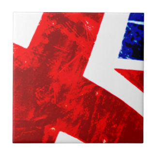 Union Jack Abstract Small Square Tile