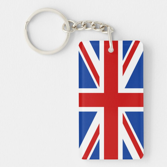 Union Jack Acrylic Keychain (Single Sided)