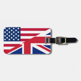 Union Jack American Flag Pattern Stars Stripes Bag Tag