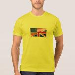 Union Jack American Flag Pattern Stars Stripes T-shirt