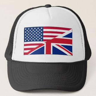 Union Jack American Flag Pattern Stars Stripes Trucker Hat