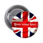 Union Jack (añada su propio nombre) Pins