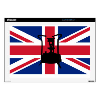 Union Jack and Paraffin pressure stove Decal For Laptop