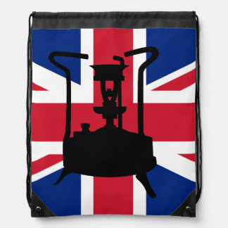 Union Jack and Paraffin pressure stove Drawstring Backpack