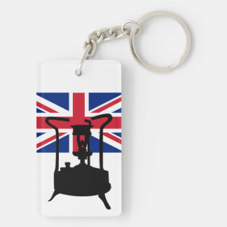 Union Jack and Paraffin pressure stove Keychain