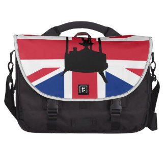 Union Jack and Paraffin pressure stove Laptop Commuter Bag