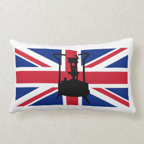 Union Jack and Paraffin pressure stove Throw Pillow