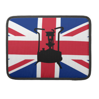 Union Jack and Paraffin pressure stove Sleeves For MacBooks