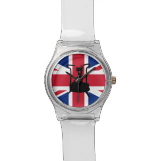 Union Jack and Paraffin pressure stove Wrist Watch