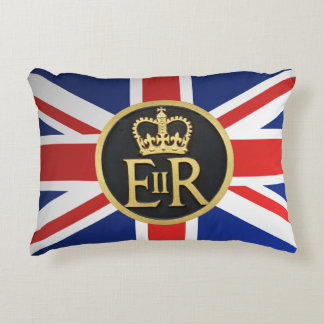 Union Jack and Royal Jubilee Accent Pillow