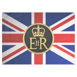 Union Jack and Royal Jubilee Insignia. Tablecloth