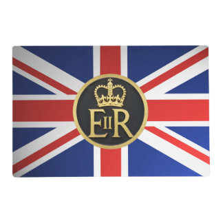 Union Jack and the Royal Jubilee insignia. Placemat