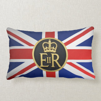 Union Jack And the Royal Jubilee. Lumbar Pillow