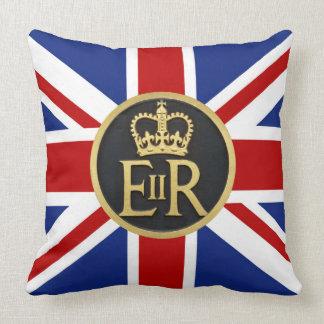 Union Jack and the Royal Jubilee Throw Pillow