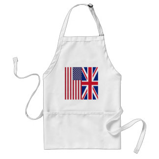 Union Jack And United States of America Flags Adult Apron