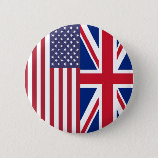 Union Jack And United States of America Flags Button