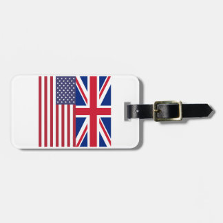 Union Jack And United States of America Flags Luggage Tag
