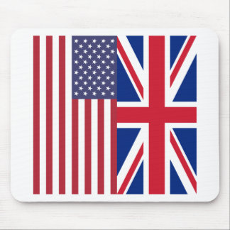 Union Jack And United States of America Flags Mouse Pad