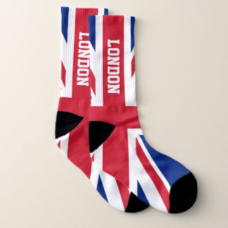 Union Jack and Your Text Socks