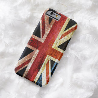 Union Jack anticuado Funda De iPhone 6 Barely There