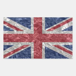 Union Jack - arrugado Rectangular Pegatinas