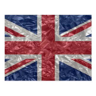 Union Jack - arrugado Tarjeta Postal