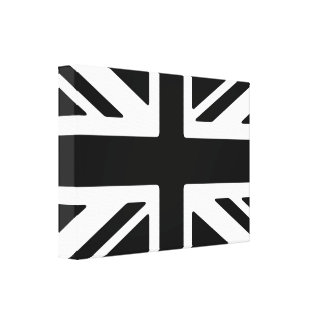 Union Jack B/W - Reino Unido Impresion En Lona