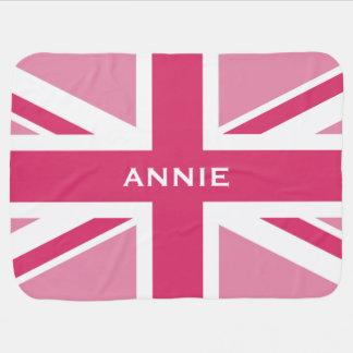 Union Jack | Baby Pink Baby Blanket