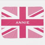 Union Jack | Baby Pink Swaddle Blanket
