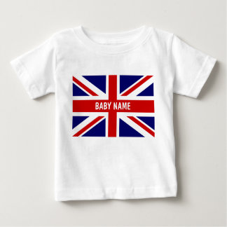 Union Jack baby tops | Personalizable british flag Infant T-shirt