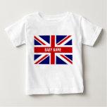 Union Jack baby tops | Personalizable british flag Tshirt