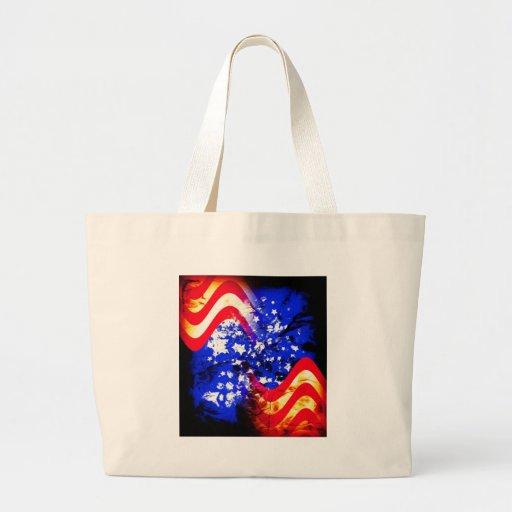 Union Jack, bandera, azul, nación los E.E.U.U. org Bolsa Tela Grande