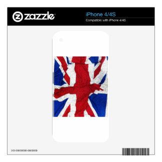 Union Jack, bandera, azul, nación los E.E.U.U. org Skins Para eliPhone 4