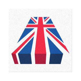 Union Jack, bandera británica en 3D Impresion De Lienzo