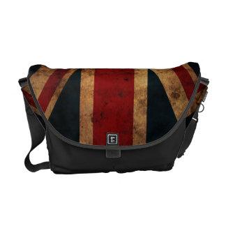 Union Jack (bandera británica, grunge) Bolsas De Mensajeria