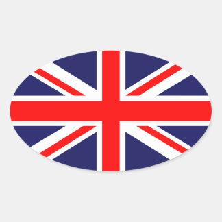 Union Jack - bandera BRITÁNICA Pegatina Óval