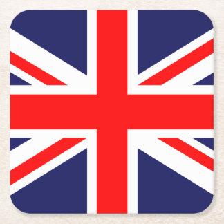 Union Jack - bandera BRITÁNICA Posavasos Personalizable Cuadrado
