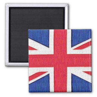 Union Jack - bandera del Reino Unido Imán Cuadrado
