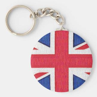 Union Jack - bandera del Reino Unido Llavero Redondo Tipo Pin
