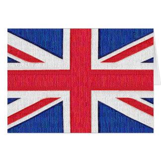 Union Jack - bandera del Reino Unido Tarjeta De Felicitación