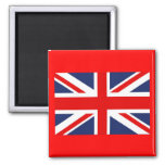 Union Jack Bandera-Unió el reino Imán Cuadrado
