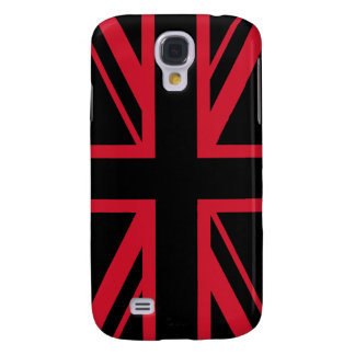 Union Jack ~ Black and Red Galaxy S4 Case