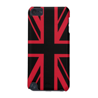 Union Jack ~ Black and Red iPod Touch (5th Generation) Case